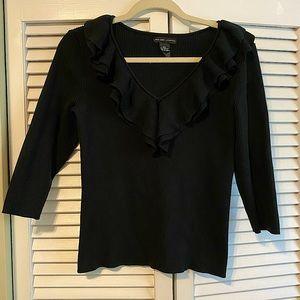 New York & Company, v-neck ruffle sweater